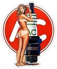 """AC Delco Pin Up Girl Decal 5"""" Free Shipping"""