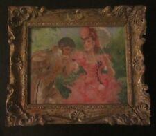 peinture par Marcel BLOCH 1884 / ? Huile sur toile figurant une scène galante
