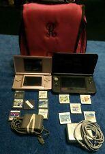 Nintendo DS Lite - Nintendo 3DS XL - Games - Chargers - Stylus Pens & Carry Bag