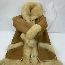 Vtg Overland Taos NM WMNS GENUINE Sheepskin Shearling Ranch Coat (Pls Read)