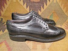"Hanover ""The Hanover Shoe"" Black Shell Cordovan Wingtip's size Usa -11 C/A"