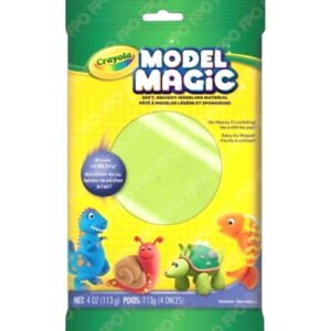 Crayola Model Magic Neon Green Modeling Clay Alternative At Home Crafts for Kids