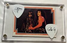 KISS Gene Simmons & Paul Stanley tour guitar pick / 1978 Donruss card display!!!
