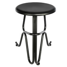 Vintage Round Human Shaped Design Black Iron Stool Bar Kitchen Office Home Seat
