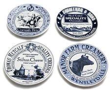 Set Of 4 Ceramic Vintage Cheese Plates Set
