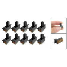 10 Pcs 6 Pins 2 Positions DPDT On/On Mini Slide Switch LW