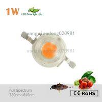 Led grow Light 1W chip full spectrum 380~840nm for hydroponics veg flower plant