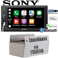 Sony Autoradio für VW Touran Bluetooth Apple CarPlay USB Einbauzubehör Einbauset