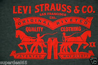 Levi's T Shirt Levis Strauss & Co Classic Logo Red / Blue / Gray  Levis