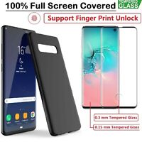 Samsung S10 S10 Plus S9 S8 Note 9 8 Case Cover + Tempered Glass Screen Protector