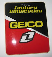 ONE INDUSTRIES GEICO HONDA FACTORY CONNECTION STICKER CRF450 CRF250 2004-09