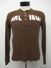 HOLLISTER MALIBU THERMAL SHIRT sz S mens brown ^2398