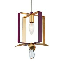 Varaluz Posh Square Mini Pendant, Plum /Gold Leaf - 263M01SPLGL
