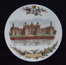 assiette ancienne en faïence de Sarreguemines château de Blois / Chambord