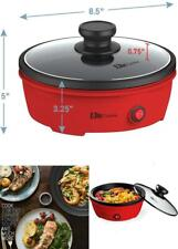 Electric Personal Nonstick Stir Fry Griddle Pan Skillet, Home, College, Office