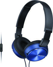 Sony-Mdrzx310al Blue Sony Over - Head Built In Mik Headphone