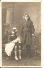 EARLY VICTORIAN VINTAGE GREETING POSTCARD,CHILDREN,CUTE GIRL,DOLL,RP