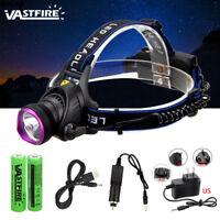 3 Mode 10000LM XM-L T6 LED Headlamp Headlight Camping Flashlight Torch 18650 CH