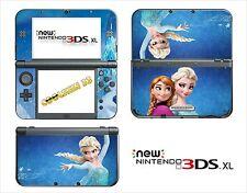 HAUT STICKER AUFKLEBER - NINTENDO NEU 3DS XL - REF 194 FROZEN