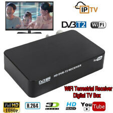 HD 1080P DVB-T/T2 VHF UHF WiFi Terrestrial Receiver Digital TV Box USB RF HDMI