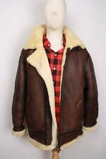 SOFT B-3 B3 Brown Shearling Air Force Bomber Pilot Flight Leather Jacket M