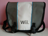 Nintendo Wii System Console Messenger Storage Bag Gray Travel Case