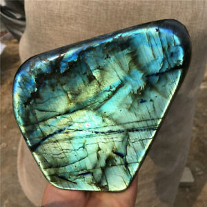 3.8LB Natural labradorite quartz mineral crystal spectrolite healing SS727-BAA-9