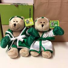 2 BEAR-rare STARBUCKS-THAILAND ONLY-FARMER-BUFFALO-COLLECTION-Limited Edition