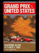 1967 Grand Prix United States Automobile Race Advertisement Vintage Poster