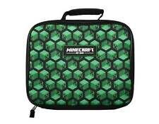 Minecraft Lunch Box Creeper Blocks logo new Insulated Official kids One Size
