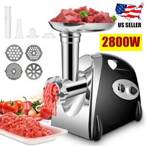 Electric Meat Food Grinder 2800W Sausage Stuffer Mincer Grinding Mincing Machine