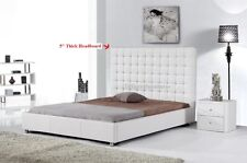 #4005 Gorgeous Modern Cal/Eastern King Size White PU Leather bed