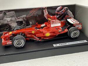 1/18 Mattel Hot Wheels Racing 2008 Ferrari F2008 Kimi Raikkonen  Part # L8781