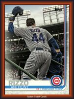 2019 Topps Series 2 SP Photo Variation #596 Anthony Rizzo - Cubs