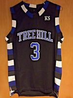 One Tree Hill Lucas Scott #3 Ravens Black Basketball Jersey S, M, L, XL, 2XL