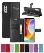 NEW Litchi Leather slot wallet stand flip Cover Skin Case For LG Velvet (4G/5G)