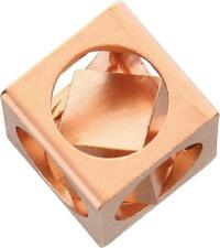 Flytanium FlyCube Weathered Antique Solid Copper Fidget Toy Cube  FLY132