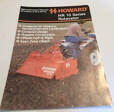 HOWARD Rotavator HR 10 compact tractor Series Original 1970s Sales Brochure