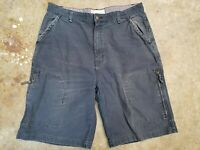 Mossimo Supply Co. Men's Navy Blue Cargo Shorts Size 36