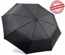 "Kolumbo Travel Umbrella - ""Unbreakable"" Windproof Tested to 55mph BLACK"