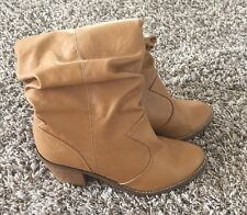 Stylish Rue 21 Cow Girl Boots Light Brown Super Cute Size 7/8