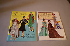 Lot of 2 Tom Tierney Vintage Paper Doll Books: Victorian Era & The Twenties