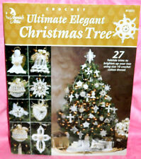 Annie's Attic Crochet Ultimate Elegant Christmas Tree Pattern Book Ornaments