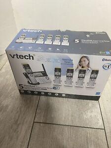 New VTech IS8151-5 Super Long Range Phone System Silver Black 5 Handsets In Box