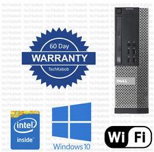 Dell 7020 Desktop PC Computer Windows 10 i3 3.6Ghz 8GB 500GB WiFi Dual Monitor