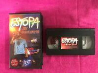 ESTOPA EN CONCIERTO VHS CINTA TAPE INCLUYE ENTREVISTAS Y VIDEOCLIPS LOS CHICHOS