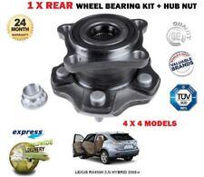 para LEXUS RX450h 3.5 hybrid 4x4 2009- > 1x Kit de rodamientos rueda trasera