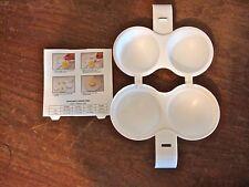 Microwave Egg Poacher LOT of 2 White