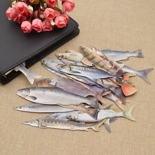 30pcs Novelty Cute Salted Fish Paper Bookmark Memo Office Students Stationery US