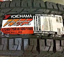 2 New LT 245 75 16 Yokohama Geolandar A/T G015 10 Ply Tires